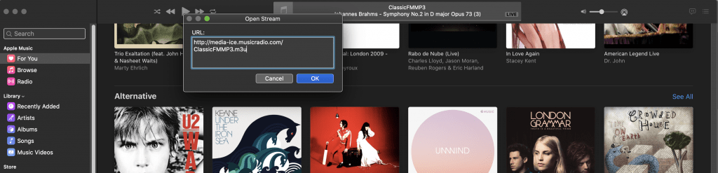 How to stream Classic FM Radio from Apple Mc Music and iTunes in the UK