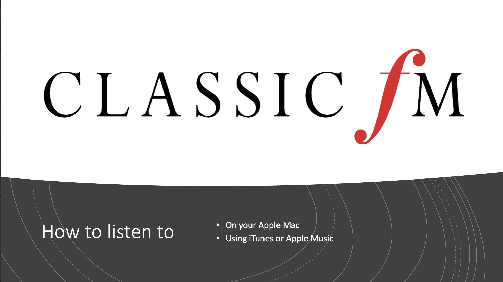 Classic FM Live Stream URL UK