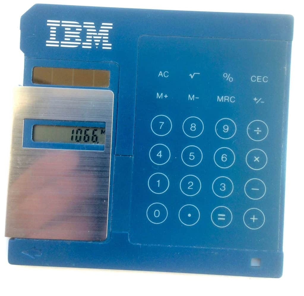"IBM 3.5"" FLOPPY DISK CALCULATOR"