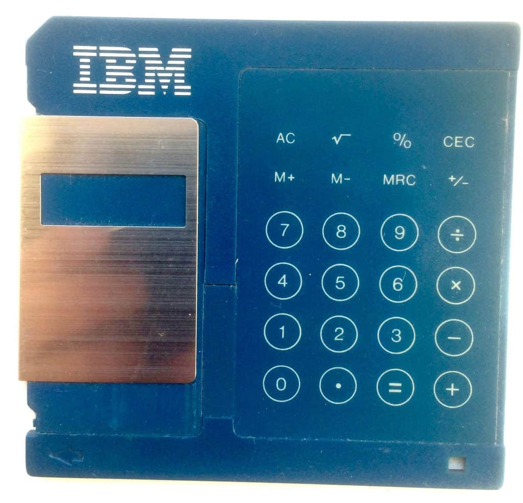IBM 3.5 INCH FLOPPY DISK CALCULATOR (CLOSED VIEW)
