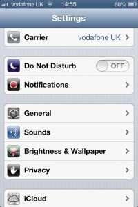 Select Privacy from the Settings menu in ios6 to fix the Tomtom car kit.