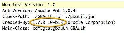 Java Jar Manifest created by Java 7