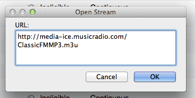Open Stream - Adding Classic FM to iTunes