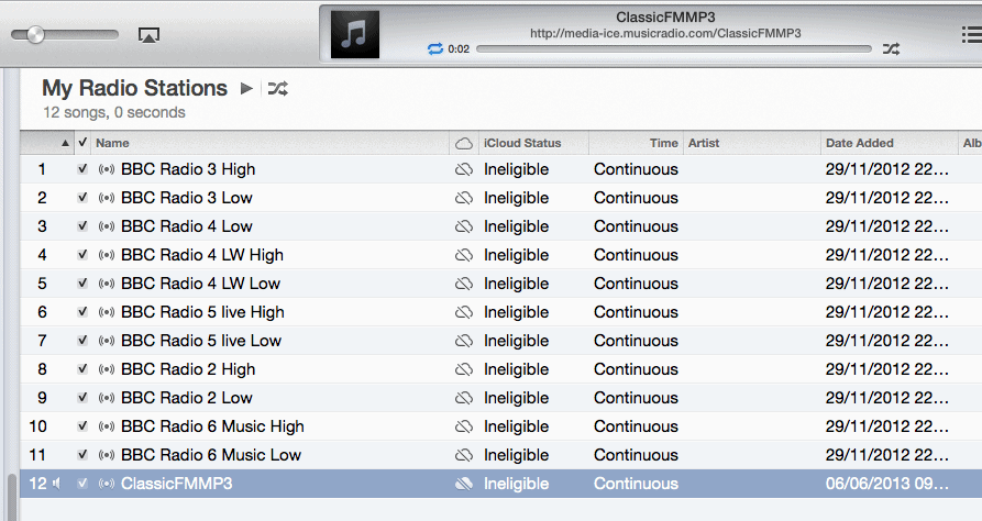 Classic FM Successfully added to iTunes