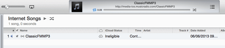 Adding Classic FM to iTunes Radio Stations