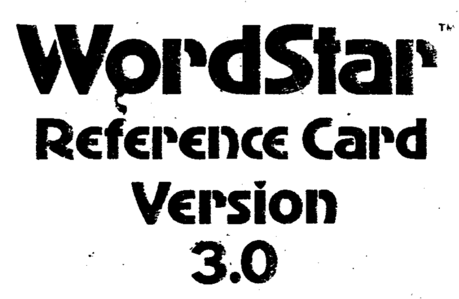 WordStar Word Processor