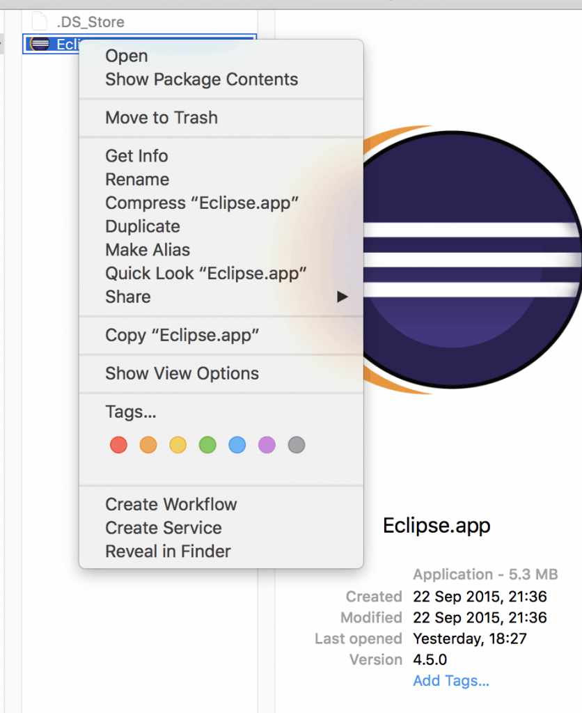 Edit eclipse package contents to change Java Runtime version