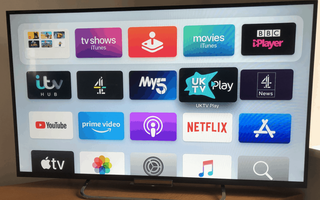 Watching ITV on Apple TV with the ITV App.