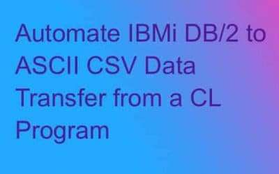 How to automate IBMi data export to CSV